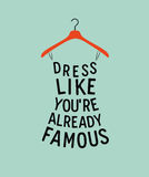 Woman dress with quote. Royalty Free Stock Image