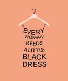 Woman dress from quote. Stock Image