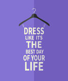 Woman dress from quote. Royalty Free Stock Photos