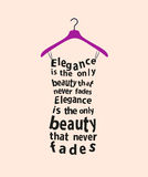 Woman dress with the quote. Stock Photography