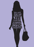 Woman in dress from quotes. Royalty Free Stock Photography