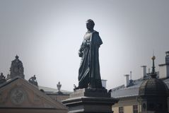 Woman In Dress Statue Stock Image