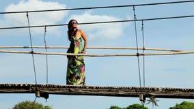 Woman in dress stock video footage