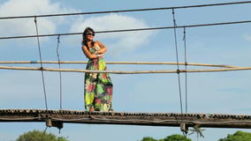 Woman in dress stock video