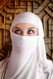 Woman dressed in Arab costume Stock Photos