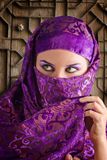 Woman dressed in Arab costume Royalty Free Stock Photo