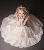 Woman Dressed As A Bride. Royalty Free Stock Images