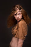 Woman dressed as Amazons. Beautiful young woman dressed as Amazons Royalty Free Stock Photography