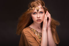 Woman dressed as Amazons Royalty Free Stock Image