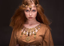 Woman dressed as Amazons. Beautiful young woman dressed as Amazons Stock Images