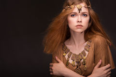 Woman dressed as Amazons. Beautiful young woman dressed as Amazons Stock Photos