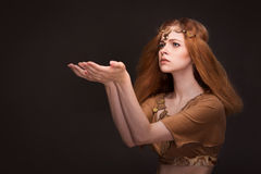 Woman dressed as Amazons. Beautiful young woman dressed as Amazons Royalty Free Stock Photo