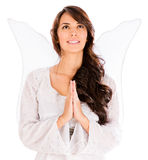 Angel praying Stock Photo