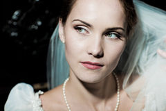 Woman dressed as a bride Royalty Free Stock Images