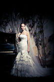Woman dressed as a bride Royalty Free Stock Photo