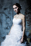 Woman dressed as a bride Stock Photos