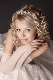 Woman dressed as a bride. Stock Photography