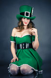 Woman dressed as leprechaun Royalty Free Stock Image