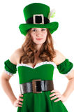 Woman dressed as leprechaun Royalty Free Stock Images