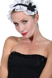 Woman dressed as a maid Royalty Free Stock Photo
