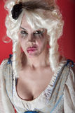 Woman dressed as Marie Antoinette Stock Image