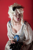 Woman dressed as Marie Antoinette Stock Images
