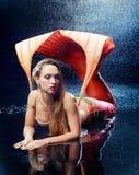 Woman dressed as mermaid