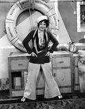 Woman dressed as sailor Royalty Free Stock Images