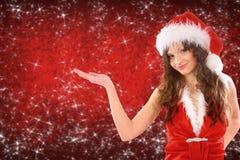 Woman dressed as santa Royalty Free Stock Photo