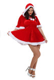 Woman dressed as sexy Mrs. Claus Stock Photography
