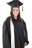 Woman dressed in a black gown Stock Image