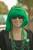 Woman dressed in green for St. Patrick's Day Royalty Free Stock Images