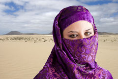 Woman Dressed In Arab Costume Royalty Free Stock Photography