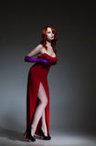 Woman dressed like Jessica Rabbit Stock Photography