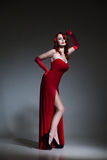 Woman dressed like Jessica Rabbit Royalty Free Stock Photography