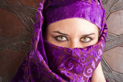 Woman dressed in saharaui costume Stock Image