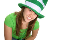 Woman Dressed for Saint Patricks Day Royalty Free Stock Images