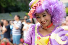 Woman Dressed Up In Costume At Disneyland