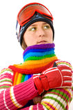 Woman dressed in winter attire Royalty Free Stock Photo