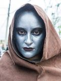 Woman dresses as ghoul for parade Stock Photos