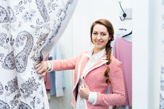 Woman in the dressing room Royalty Free Stock Image