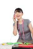 Woman Dressmaker on Phone Stock Photos