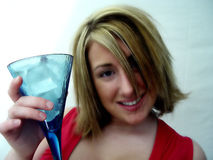 Woman with Drink royalty free stock image