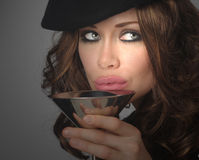 Woman And Drink stock image