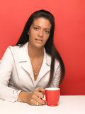 Woman drink coffee Royalty Free Stock Photography