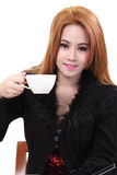 Woman drink coffee Stock Photography