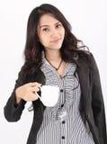 Woman drink coffee Stock Photos