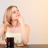 Woman Drink Tea Royalty Free Stock Images