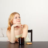 Woman Drink Tea Royalty Free Stock Image