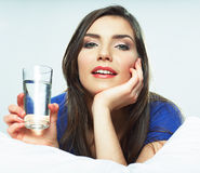Woman drink water Royalty Free Stock Photo